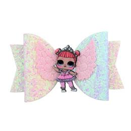 Nuevo arco iris de chicas lindas pinzas para el cabello relucientes alas de ángel niños Barrettes para niños Clips para el bebé BB Clip Clip accesorios para el cabello diseñador A4808 desde fabricantes