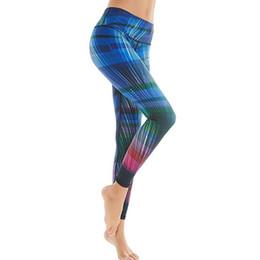 corrientes deportivas Rebajas Leggins Deporte Mujeres Fitness Cintura Alta Corriente Impresión Pantalones de Yoga Control de la Panza Adelgazar Botín Leggings Levantar Medias Mujeres Hight
