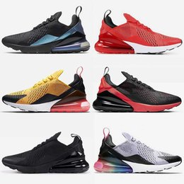 2021 zapatos tenis de lona para mujer nike air max 270 airmax 27c Zapatillas de deporte para hombre Zapatillas de tenis para correr Zapatillas de deporte para mujer Triple White Black University Red BeTrue Olive Canvas