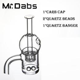 25mm OD Quartz Banger avec Cyclone riptide Carb Cap avec 2 perles de Quartz ensemble ? partir de fabricateur