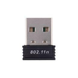 Усиление антенны wi-fi онлайн-Сетевые сетевые карты 1шт Mini USB WiFi-адаптер Драйвер 802.11 b / g / n Wi-Fi Dongle High Gain 2,4 ГГц 150 Мбит / с беспроводная антенна Wi-Fi для