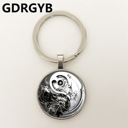 heat gear Promo Codes - GDRGYB Heat 2019 Best selling retro alloy jewelry, steampunk gears, Yin and Yang taiji time gem Key buckle