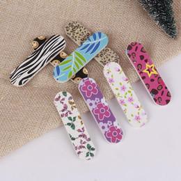 Smalto per unghie Kit per manicure Manici per unghie in legno EVA Lima per unghie fai-da-te Guarnizione per unghie Levigatura di carta Bastoncini per limatura F3427 da