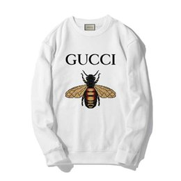 2020 розово-серый пуловер GUCCI Новый Балахон Хип-Хоп Письмо Печати Кофты Мужчины Женщины Пуловеры Уличная Designe Толстовки Белый Розовый Серый #56189 дешево розово-серый пуловер