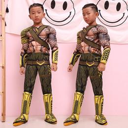 cosplay do músculo super-herói Desconto Meninos Halloween Aquaman estilo muscular ternos Cosplay 2019 New Kids Avengers super-herói roupas Cosplay C