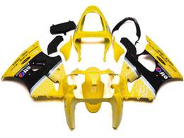 Novo kit de carenagens de ABS Fit Para Kawasaki Ninja ZX636 ZX-6R ZX-636 636 6R ZX6R 00 01 02 2000 2001 2002 amarelo supplier yellow kawasaki zx6r fairings de Fornecedores de carrinhos amarelos kawasaki zx6r