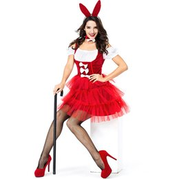 bunny cosplay dress Promo Codes - Bunny Girl Rabbit Costumes Women Cosplay Sexy Halloween Adult Animal Costume Fancy Dress Clubwear Party Wear
