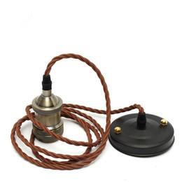 extensor e27 Rebajas Vintage Edison Socket de la lámpara Tornillo E27 Base de la bombilla Soporte de lámpara de aluminio Industrial Retro cable colgante de luz