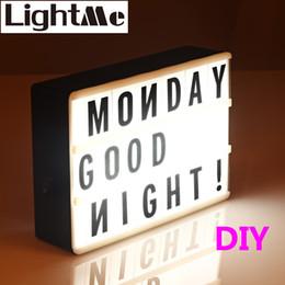 lampada nera diy Sconti 2018 Premuim New A4 A6 Size Led Combination Light Box Lampada da notte Diy Black Letters Cards Porta USB Powered Cinema Lightbox Q190611