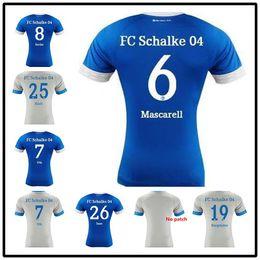eb6011a26 AAA++2019 Schalke Home Blue Soccer Jersey 18 19 Schalke 04 Away Football  Shirts 2019  7 Uth  8 Serdar  10 Bentaled  18 Caligiuri Football Je