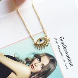 2019 acessórios para correntes de pescoço moda Moda na moda Evil Eye Colar Mulheres Pescoço Jóias Simples Longa Cadeia Gargantilha Colar Mulheres Acessórios desconto acessórios para correntes de pescoço moda