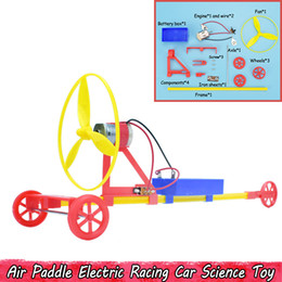 pale giocattolo Sconti Air Paddle Electric Racing Car Scienza Esperimento Giocattoli FAI DA TE Creativo assemblaggio a mano fisica Giocattoli educativi Regali per i bambini