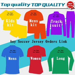 Fußball-pullover online-Fußball Trikot 19 20 Fußball Trikots Kinder Frau Trainingsanzüge Pullover Männer Fußball Trikot Kunden Bestellen Link Jacke