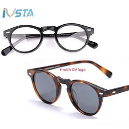 i telai di vetro all'ingrosso di moda Sconti IVSTA Oliver logo OV 5186 Gregory Peck Acetato Glasses Donna rotonda occhiali da sole polarizzati del progettista di marca con la scatola ottica Miopia