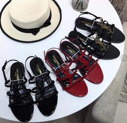 2019 chaussures plates en cuir pour femme XC Livraison gratuite nouveaux produits de bonne qualité sandales plates de femmes dames logo en cuir en cuir de mode en cuir semelle extérieure Chaussures 34-41 chaussures plates en cuir pour femme pas cher