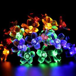 albero solare del fiore Sconti NOVITÀ 7M 50led Solar String Lights Fairy Flower Blossom Luce decorativa per esterni per decorazioni per interni in legno per feste in giardino
