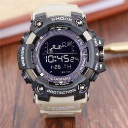 Relojes deportivos para hombres Reloj deportivo deportivo digital de cuarzo de alta calidad, relojes impactantes, correa de resina, estilo G, reloj masculino para estudiantes desde fabricantes