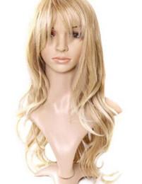 Nuevas pelucas doradas online-PELUCA envío de la nueva moda sexy cosplay pelucas de pelo Mainstream Golden Wave Simulación peluca larga