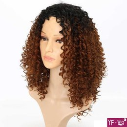 2019 perucas afro curly afro-americanas curtas Barato perucas peruca curta marrom kinky curly peruca peruca sintética perucas afro-americanos para a europa e américa mulher new style hot recomendar perucas afro curly afro-americanas curtas barato