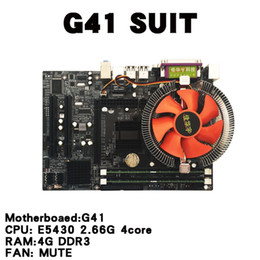 Freeshipping Quad Core 2.66G CPU Ile anakart CPU Set i5 Çekirdek + 4G Bellek + Fan ATX Masaüstü Bilgisayar Anakart Set Birleştirin nereden anakartlar hp notebooklar tedarikçiler