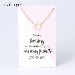 2019 fascino della mamma dell'oro Evil Eye Geometric Round Circle Charms Collana Clavicola Oro Link per le donne Ragazze Mom Accessori Festival Lunghezza gioielli CN260 fascino della mamma dell'oro economici