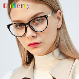 0353d711d14 Ralferty Cat Eye Glasses Frames Women Retro Black Optic Myopia Eyeglasses  High Quality Rhinestone Eyewear Accessories F97544 rhinestone eyeglass  frames for ...