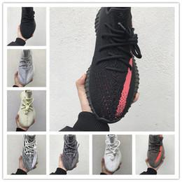2019 merletti leggeri 2019 Adidas Yeezy Boost 350 V2 Static Lace 3M Reflective sesamo burro donne Mens Running Shoes Nero Bianco Rame Sneakers uomo progettisti Sport Trainer scarpe merletti leggeri economici