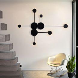 2019 luzes de passo modernas Pós-moderna Arte Minimalista Designer de Sala de estar Lâmpada de Parede Decorativa Criativo Simples Personalidade De Cabeceira LEVOU luz de parede 100-240 V