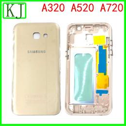 2019 галактика a7 lcd Для Samsung Galaxy A3 A5 A7 2017 Полный корпус сзади A320 A520 A720 Аккумулятор Задняя панель + LCD металла средней рамки дешево галактика a7 lcd
