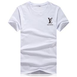 Camiseta branca pura on-line-De manga curta T-shirt dos homens Modal Algodão Top Pure White Men camisa branca Ice Silk T-shirt de manga curta de tendência