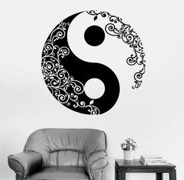 2019 stickers d'art murales bouddha Mandala Sticker Mural Décalque Bouddha Yin Yang Floral Yoga Méditation Décalque De Vinyle Sticker Mural Art Mural Décor À La Maison Décoration D 175 stickers d'art murales bouddha pas cher