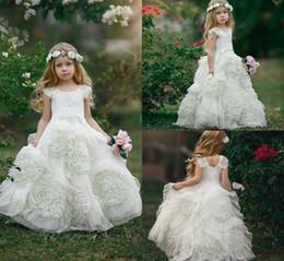 Robes de fille de fleur en ivoire pour le cou de bijou de mariage ? partir de fabricateur