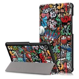 Rosa lenovo tablet fall online-Superdünne Ganzkörperschutz Stand Ledertasche Tasche Schale für Lenovo Tab M7 TB-7305F Schutzhülle