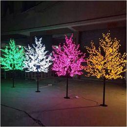 Éclairage de fleurs de cerisier en Ligne-1.5m 1.8m 2m 2,5m 3m brillant LED Fleur de cerisier Arbre de Noël d'éclairage Paysage Jardin Décoration étanche Lampe pour le mariage Parti Christma