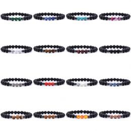Bangle di moda di buddha online-2020 moda braccialetto di pietra naturale 8mm yoga perline guarigione reiki preghiera equilibrio buddha perline bracciali braccialetto uomini gioielli 16 stili m510f