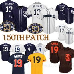 78c302d4 19 Tony Gwynn jersey 4 Wil Meyers baseball 13 Manny Machado men 2019 Logos  100% Stitched Baseball Jerseys