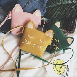 bonito gato presentes Desconto Crianças Coin Purse Cat Handbag Crianças Animal Zero Wallet Messenger Bag Bonito Do Rato Arco Do Bebê Meninas Crossbody Sacos de Ombro Presentes Frete Grátis