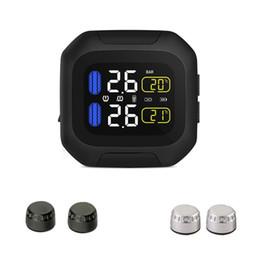 Sistema di monitoraggio della pressione dei pneumatici in tempo reale M3 impermeabile per moto TPMS Display LCD senza fili Sensori esterni da