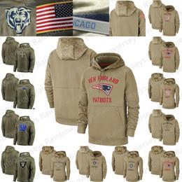 bay backback jersey Rebajas 2020 Tan camiseta de saludo al Servicio suéter con capucha de color caqui Nueva York Orleans Patriota Santos Oakland Raider Gigantes de oliva Hombres Mujeres Jóvenes