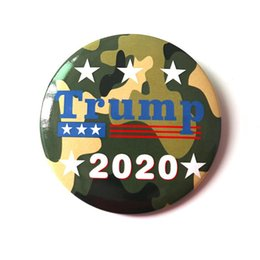 Nuovi badge pin online-Nuovo Trump Spilla Pins rendere l'America Great Again Donald Trump per Button Presidente USA cupola di vetro Lapel Pin Badge DHE394