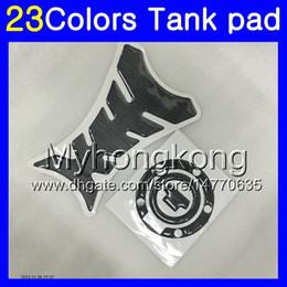 pegatinas yamaha r1 protector Rebajas .3D de fibra de carbono del cojín del tanque para YAMAHA YZFR1 04 05 06 YZF R1 YZF 1000 YZF1000 YZFR1 2004 2005 calcomanías etiqueta engomada 2006 MY80 Gas Tapa del tanque Protector
