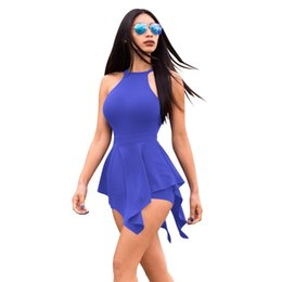 Collant online-Spot hot style in Europe and the sexy tight jumpsuits Pure color backless brief paragraph jumpsuits WMZ2287