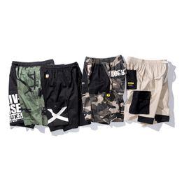Длина бедра онлайн-Mens Summer Cotton Breathable Shorts Fashion Cargo Street Hip Hop Short Pants Knee Length Casual Male Clothing