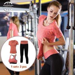 Profesyonel 3 1 Yoga Set Hızlı Kuru Egzersiz Spor Takım Elbise Tayt Seksi Üst Spor Giyim Pantolon Spor Sutyen Eşofman Kadın # 556411 cheap sexy professional suit nereden seksi profesyonel takım elbisesi tedarikçiler