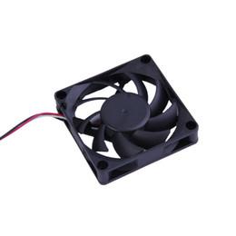 poupança de energia do ventilador Desconto Ventilador de refrigeração da caixa de poupança de energia do rolamento de esferas de 7cm 12 V para o computador