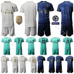 fußball-kit-nummern Rabatt 19-20 Real Madrid Fußball 7 Eden Hazard Trikot Set 10 Luka Modric 11 Gareth Bale Fußballtrikot Kits Uniform Custom Name Number