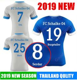 5928b7ec2 2019 FC Schalke 04 Soccer Jerseys 18 BURGSTALLER 7 UTH 6 Mascarell HARIT  SERDAR SANE Custom Home Away Football Shirt calcio futbol