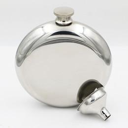 mini bottiglie di alcool Sconti Fiaschetta in acciaio inossidabile da 150 ml Flagon portatile per esterno Flags argenteo Whisky Stoup Bottiglie di alcol per vino con imbuto HHA567