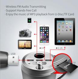 2019 cargador inalámbrico de puerto El kit de coche Bluetooth más nuevo con 3 puertos USB cargador de coche inalámbrico transmisor de FM encendedor de cigarrillos del coche para iPad Samsung Samsung Huawer Xiaomi