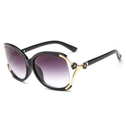 Рамки градации онлайн-Новые женские дизайнерские солнцезащитные очки Camellia Fashion солнцезащитные очки Big PC Frame Grace Женские очки 5 цветов оптом